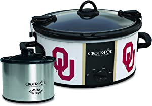 Oklahoma Sooners Collegiate Crock-Pot Cook & Carry Slow Cooker with Bonus 16-ounce Little Dipper Food Warmer