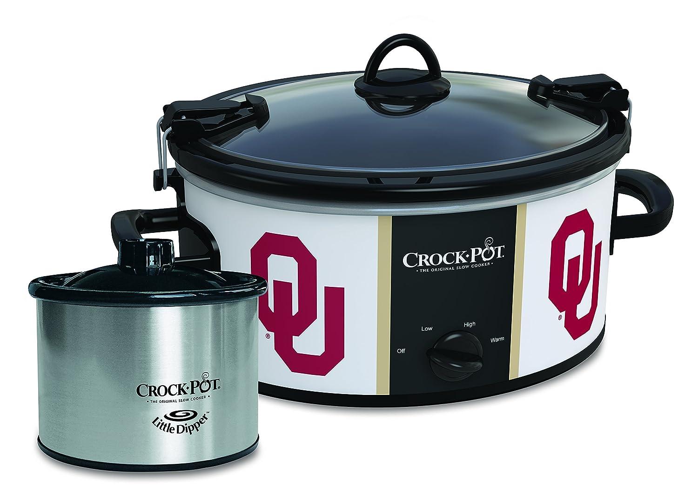Oklahoma Sooners Collegiate Crock-Pot Cook Carry Slow Cooker with Bonus 16-ounce Little Dipper Food Warmer