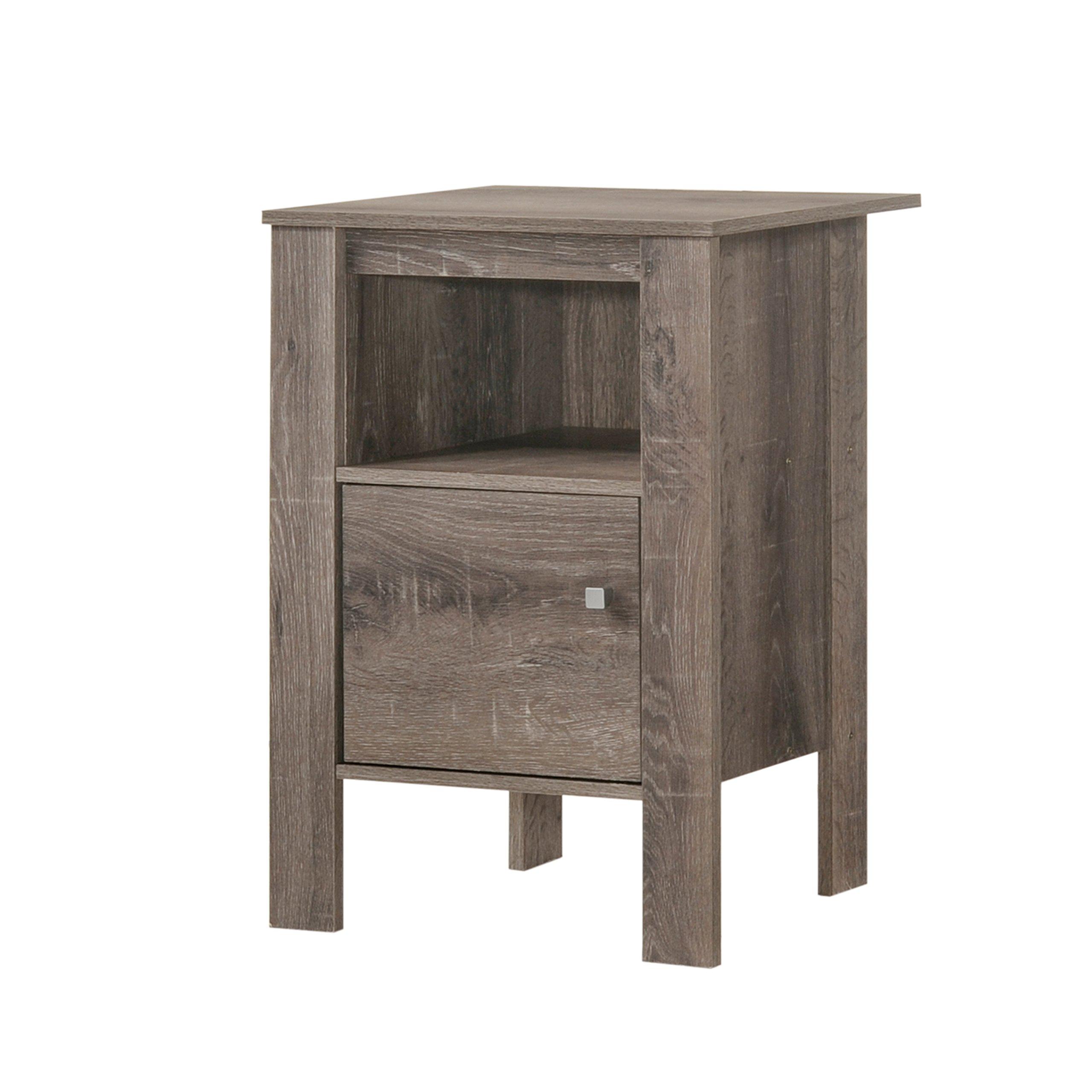 HOMES: Inside + Out IDF-AC802TA Side Table, Rustic Oak