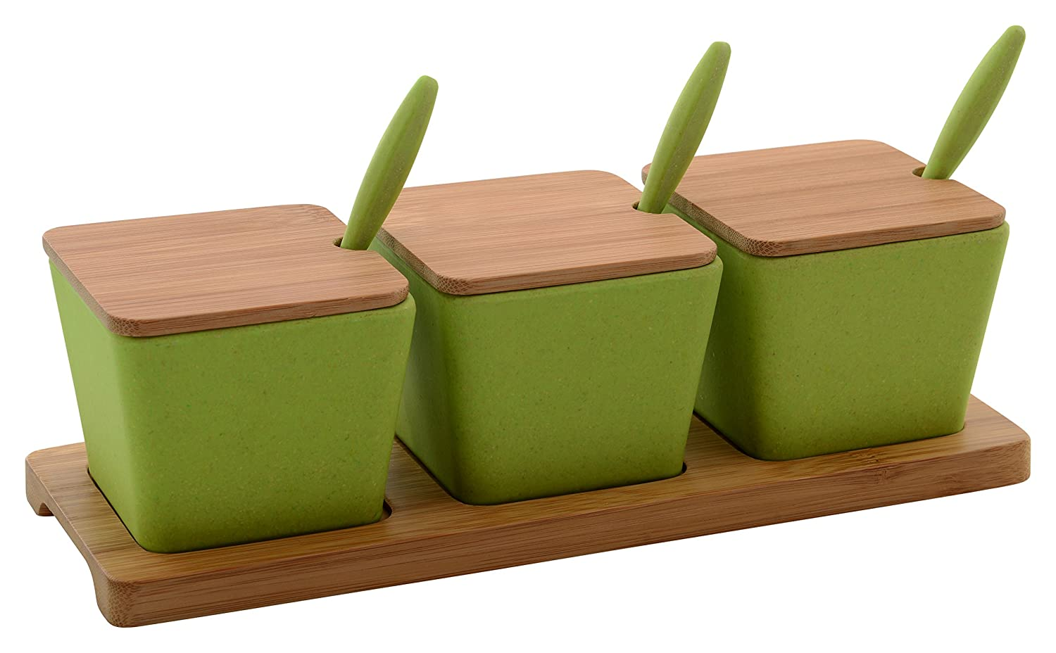 4.5 Length Cal-Mil 3014-55 Luxe Three Compartment Condiment Organizer 9.25 Width 2.5 Height Stainless Steel