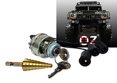 Ignition Starter Ke Switch Military Plug 4-Position ACC/OFF/ON/START on