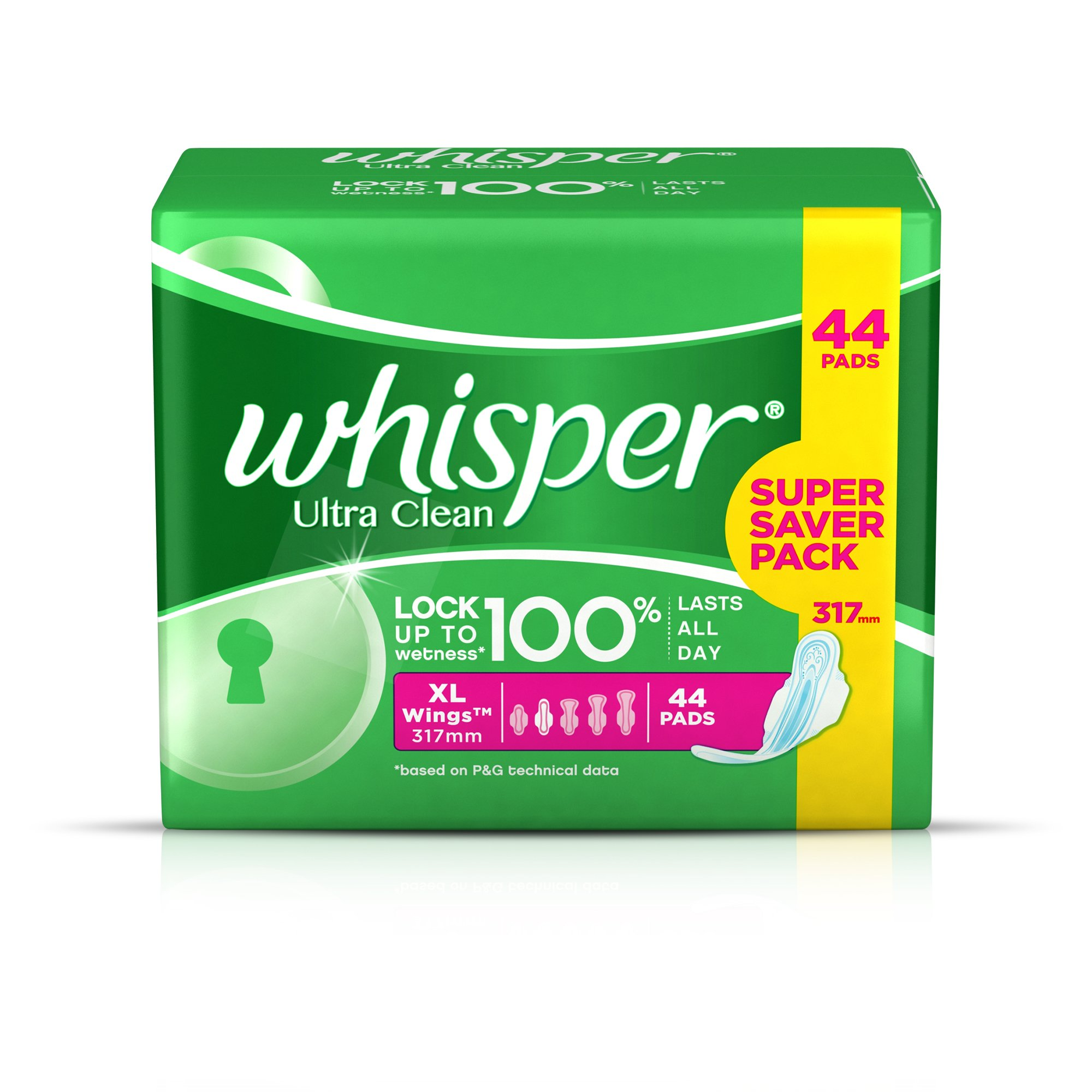 Whisper Ultra Sanitary Pads - 44 Count (Extra Large) product image