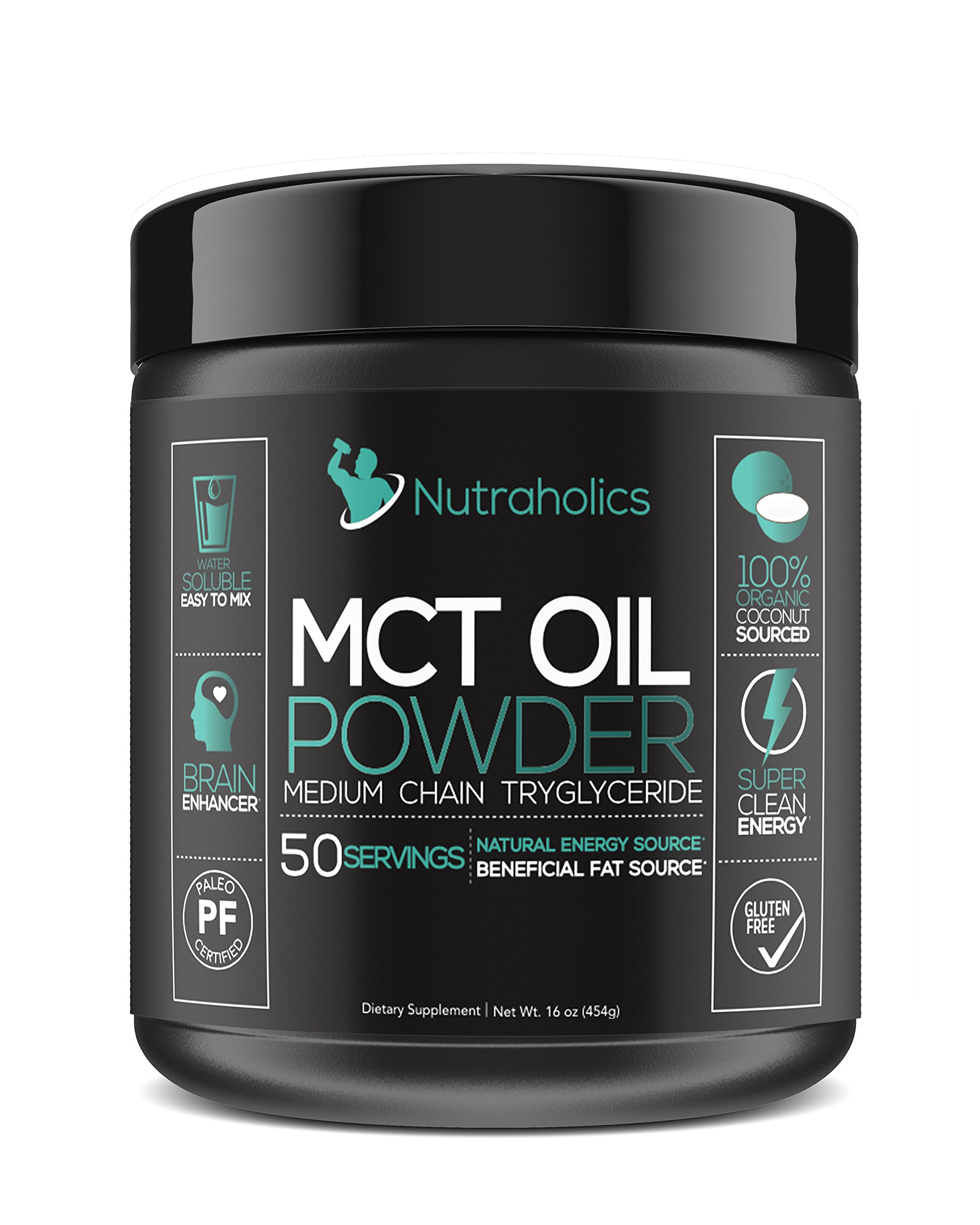 MCT Oil Powder from Organic Coconuts for Ketosis and Ketone Energy Supplement on Ketogenic Diet Easy to Absorb & Digest in Smoothies & Shakes or Keto Coffee Creamer