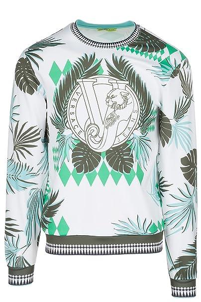 Versace Jeans Sudadera de Hombre Blanco EU M (UK M) B7GRB7FD: Amazon.es: Ropa y accesorios