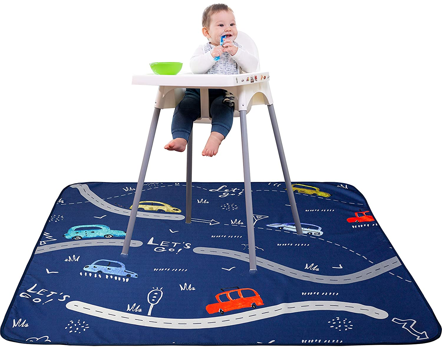Waterproof Splat Mat for Under High Chair - 51