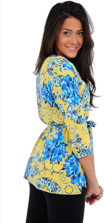 FeelFitWear Floral Open Front Wrap Cardigan Sweater for Women