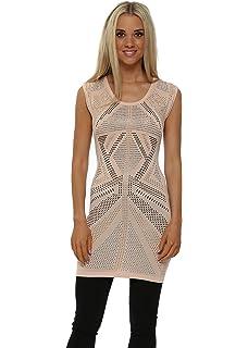 6badddf7a Laetitia Mem Grey Foil Chain Tunic Jumper Grey One Size  Amazon.co ...