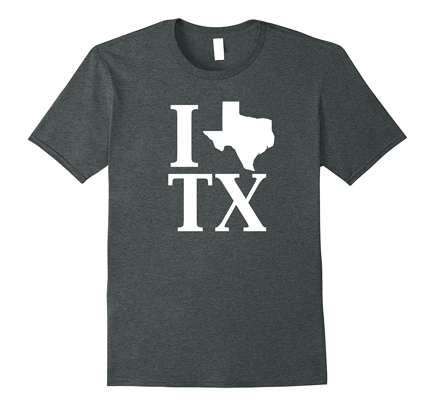 i heart love tx texas silhouette state outline t shirt