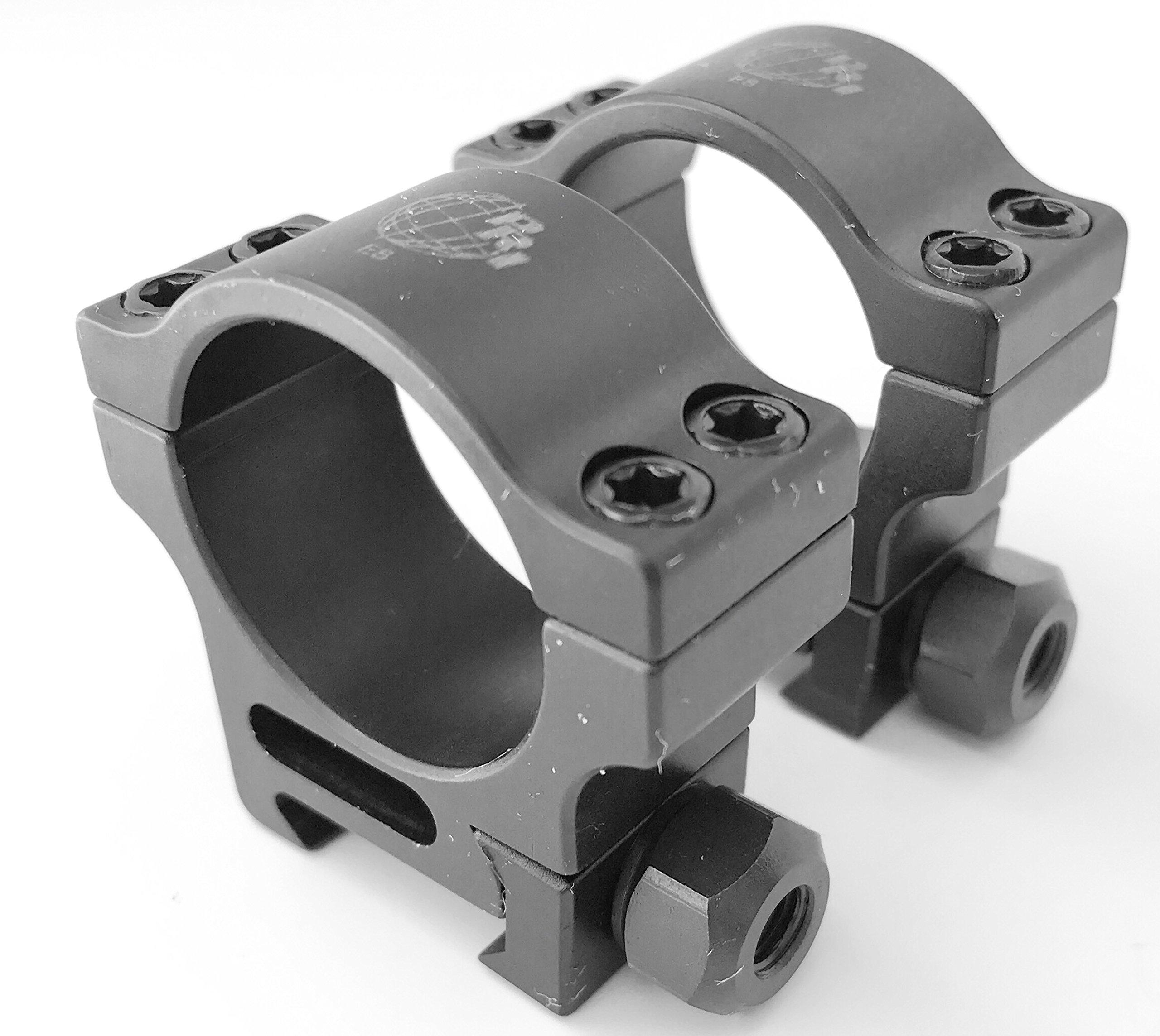 PRI Tactical Scope Rings - 1'' Aluminum. Extra High