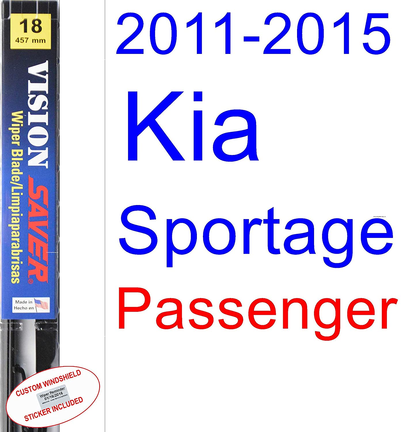 Amazon.com: 2011-2015 Kia Sportage Wiper Blade (Rear) (Saver Automotive Products-Vision Saver) (2012,2013,2014): Automotive