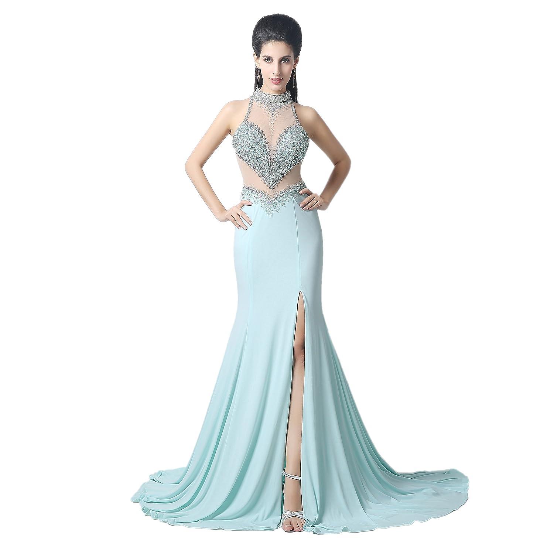 Bridal_Mall Damen Elegant A-Linie Abendkleider Lang ...