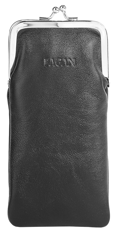 Bagan Brillenetui Echt Leder schwarz Damen - 017837