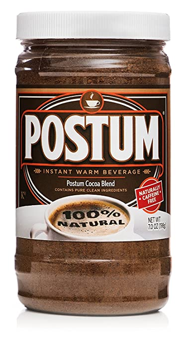 Amazon.com : Postum Hot Cocoa Natural Blend (7oz) | Instant, Healthy, Chocolate Flavor Coffee Alternative | Caffeine Free, Sweet, Smooth, Tasty, Dietary Warm Beverage for Breakfast, Gourmet & Pantry Pack : Grocery & Gourmet Food