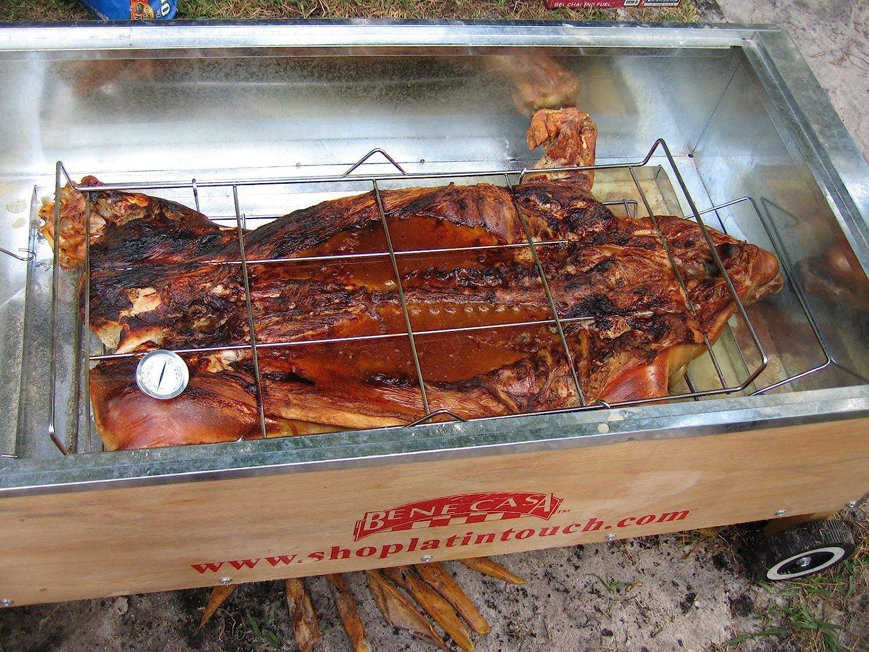 La caja asadora asar Box (caja China) Pig horno aluminio 100 lb: Amazon.es: Jardín