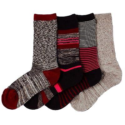 Kirkland Signature Ladies' Trail Socks Merino Wool (Pink), 4 Pairs, Fits Shoe Size: 4-10.5: Clothing