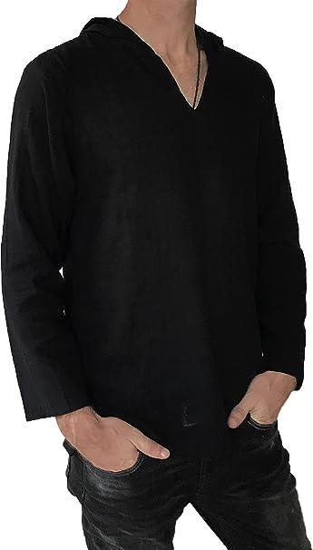 Amazon.com: Sudadera con capucha para hombre, estilo hippie ...