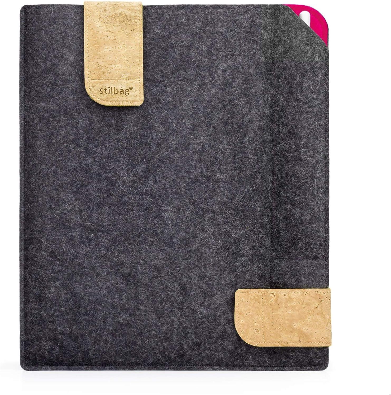 Bolsa de fieltro Stilbag para Apple iPad (2017) | Estuche de fieltro de lana Merino y corcho con compartimento Stylus | Modelo KUNO en antracita: Amazon.es: Electrónica
