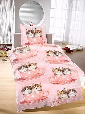 Brand sseller – Gatos Diseño Ropa de Cama Microfibra 135 x 200 cm, 80 x 80 cm