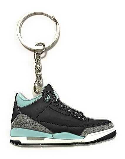 Zapatos Sneaker llavero aj-retro 3, Azul: Amazon.es ...