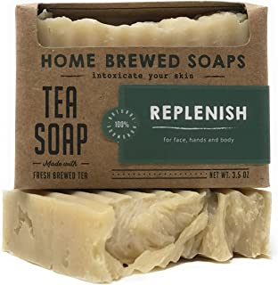 product image for Tea Soap, Vegan Soaps for Women, Zero Waste Soap, Replenish - 3.5 oz - Home Brewed Soaps