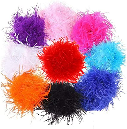 9 Stunning Colours /¼ yard Neotrims Marabou /& Ostrich Feather Boa Fur Scarf Costume Beautiful Soft Natural For Party 22-23cms Burlesque Dancing Turquoise Fancy Dress