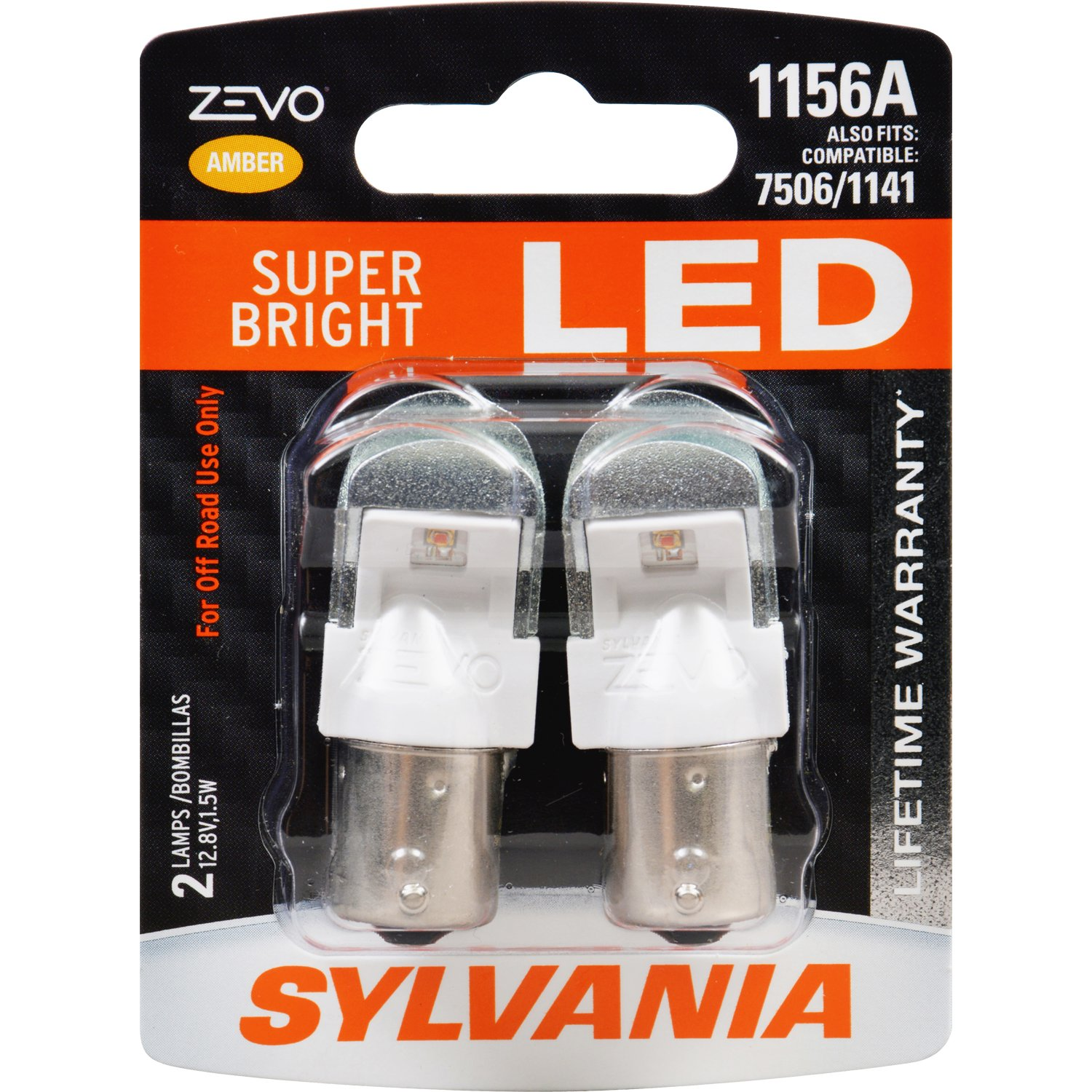 Amazon.com: SYLVANIA - 1156 ZEVO LED Amber Bulb - Bright LED Bulb, Ideal  for Park and Turn Lights (Contains 2 Bulbs): Automotive