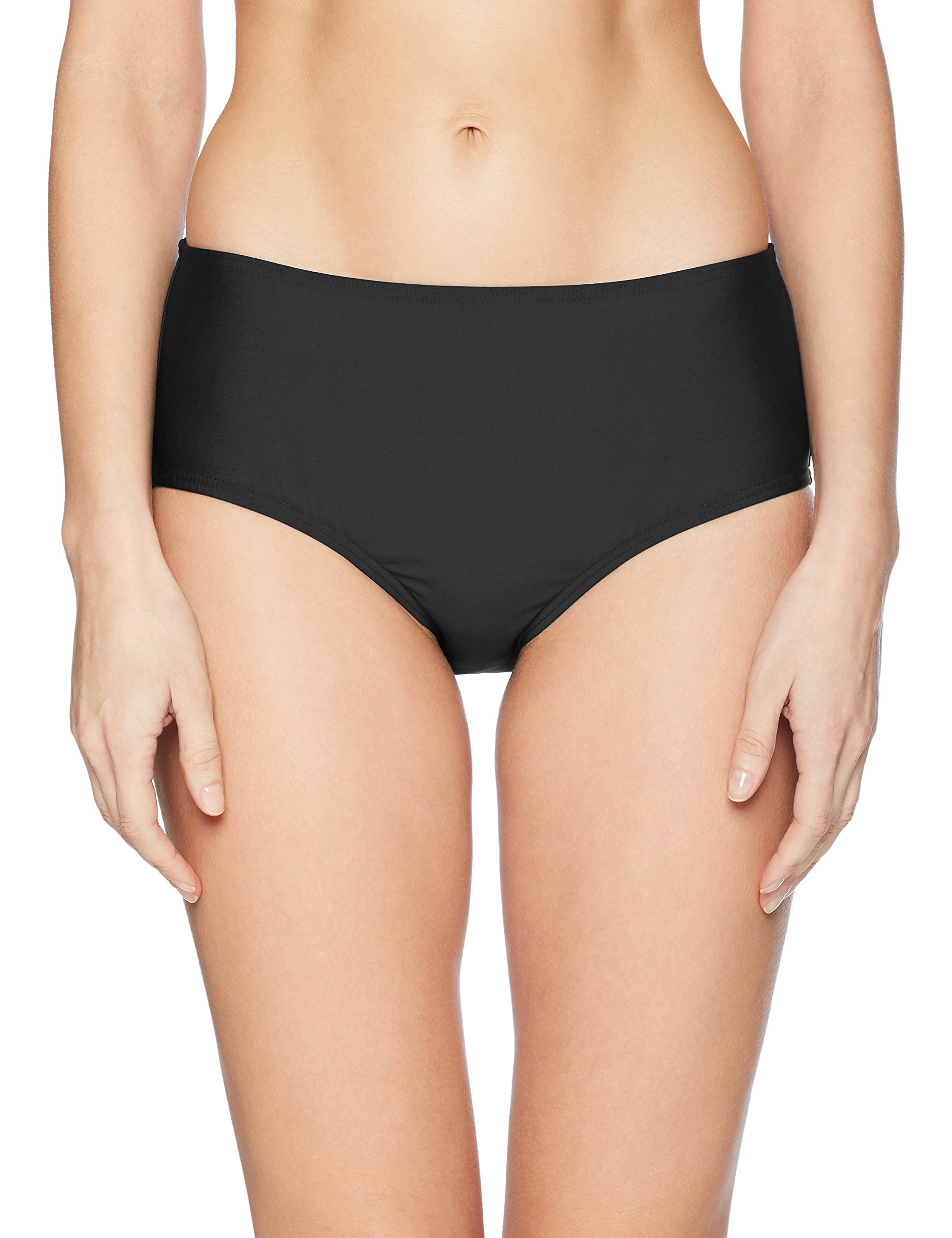 Calvin Klein Women's Classic Mid Rise Bottom with Tummy Control, Black, Large by Calvin Klein