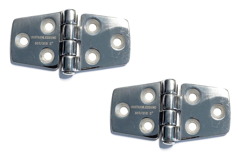 2 Pieces Stainless Steel 316 Hinge 3 Marine Grade