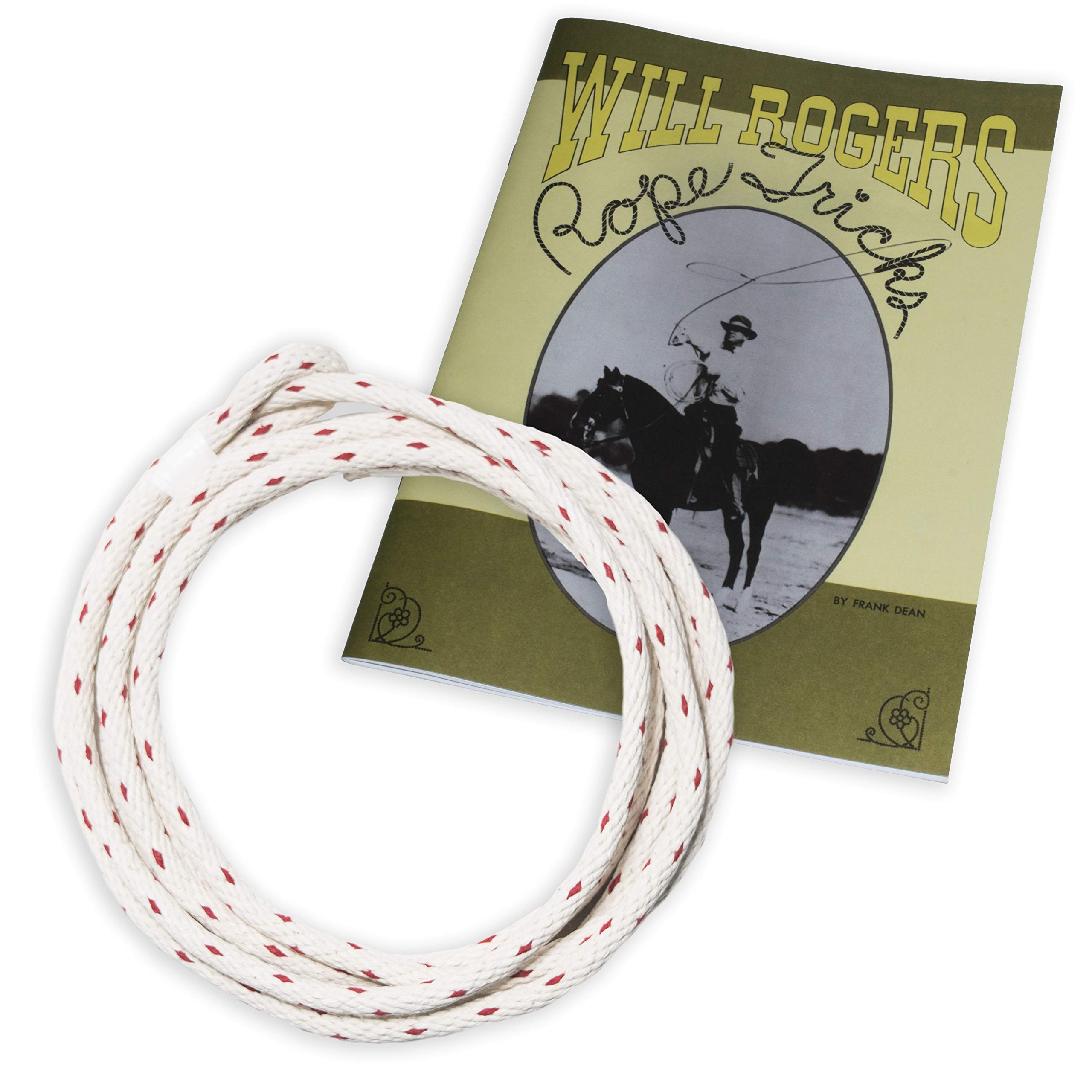 Western Stage Props Will Rogers Trick Roping Set (Rope+Book Combo Set)