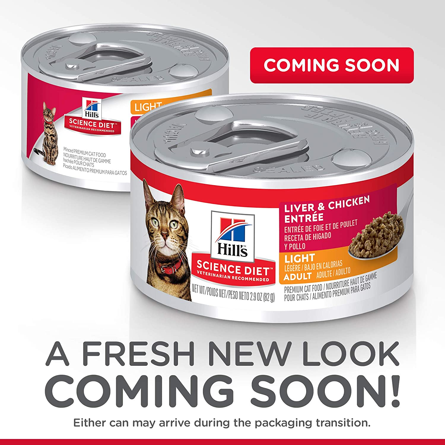 Amazon.com : Hills Science Diet Wet Cat Food, Adult, Light for Healthy Weight & Weight Management, Liver & Chicken Recipe, 2.9 oz Cans, 24-pack : Pet ...