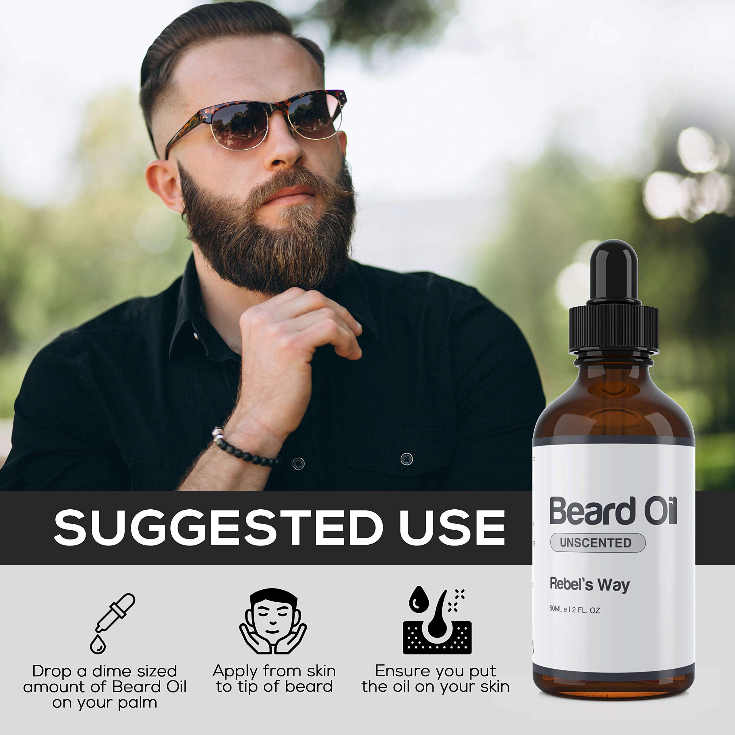 Unscented Beard Oil Made in Canada (2 Oz - 60ml)