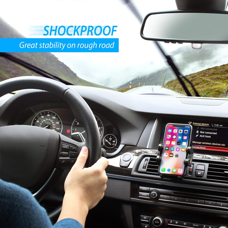Insten Car Air Vent Phone Holder Compatible with Huawei Google Nexus 6P//LG Google Nexus 5X//iPhone X//XS//XS Max//XR //8//8 Plus//7//7 Plus//6S//Samsung Galaxy S10//S10 Plus//S10e//S9//S9 Plus//Note 9//LG G5,Black eForCity 1068213