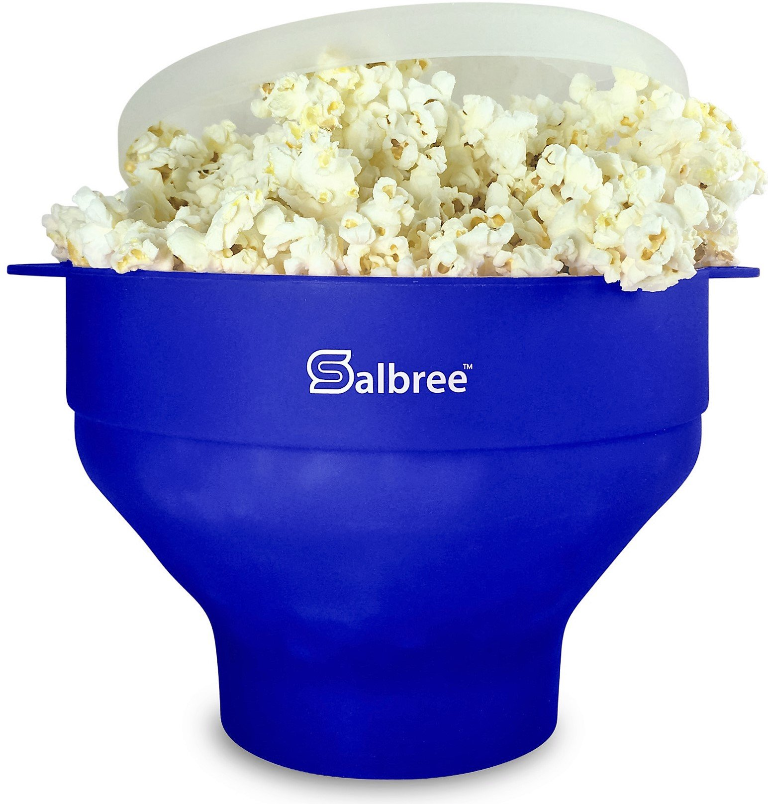 The Original Salbree Microwave Popcorn Popper, Silicone Popcorn Maker, Collapsible Bowl BPA Free (Blue)