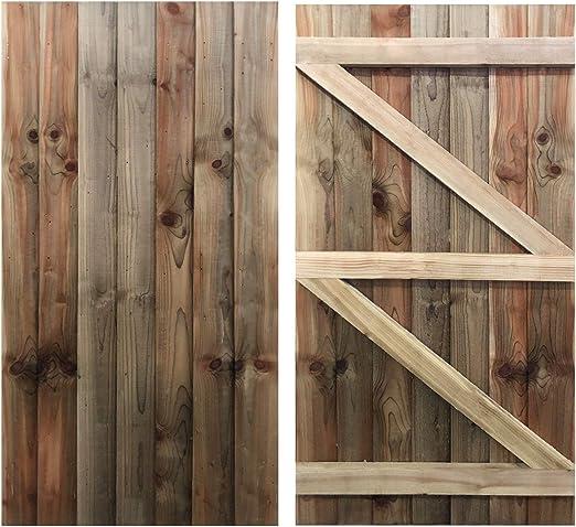 RUBY Featheredge - Puerta de jardín (Madera, 1, 8 x 0, 9 m), Color ...