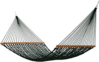 product image for Hatteras Hammocks DC-15G Executive Green Duracord Rope Hammock with Free Extension Chains & Tree Hooks, Handcrafted in The USA, Accommodates 2 People, 450 LB Weight Capacity, 13 ft. x 65 in.