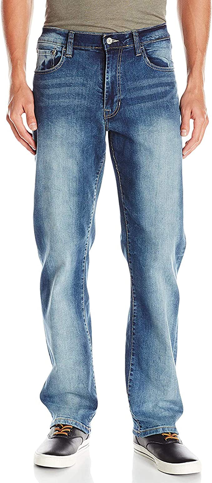 Regular Fit IZOD Mens Comfort Stretch Denim Jeans