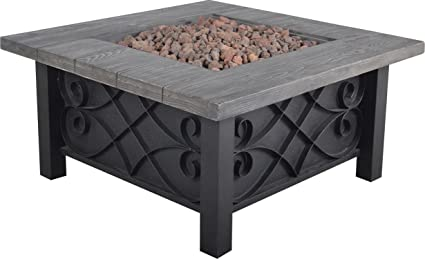 Amazon Com Bond Manufacturing 67531 Marbella Steel Gas Fire Table