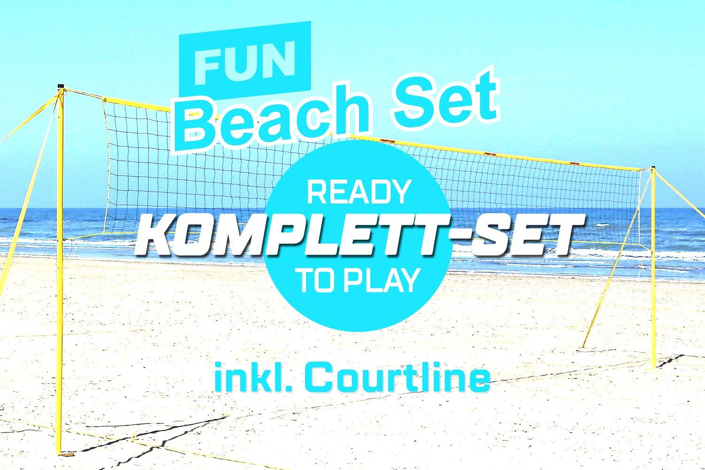 Funtec Fun Beach Set - komplette Beachvolleyball-Netzanlage für Einsteiger 111109