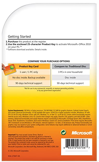 need ms office 2010 product key