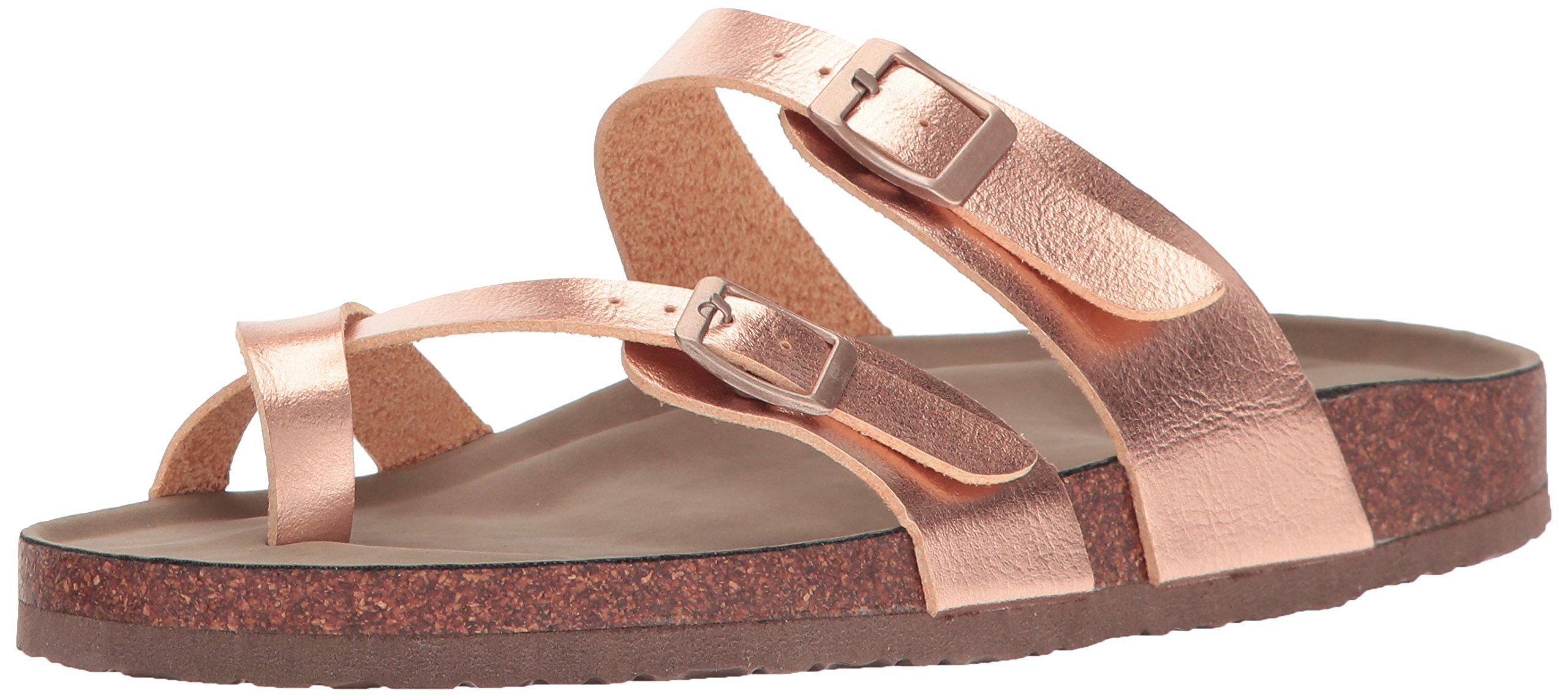 Madden Girl Women's Bryceee Toe Ring Sandal, Rose Gold, 9 M US