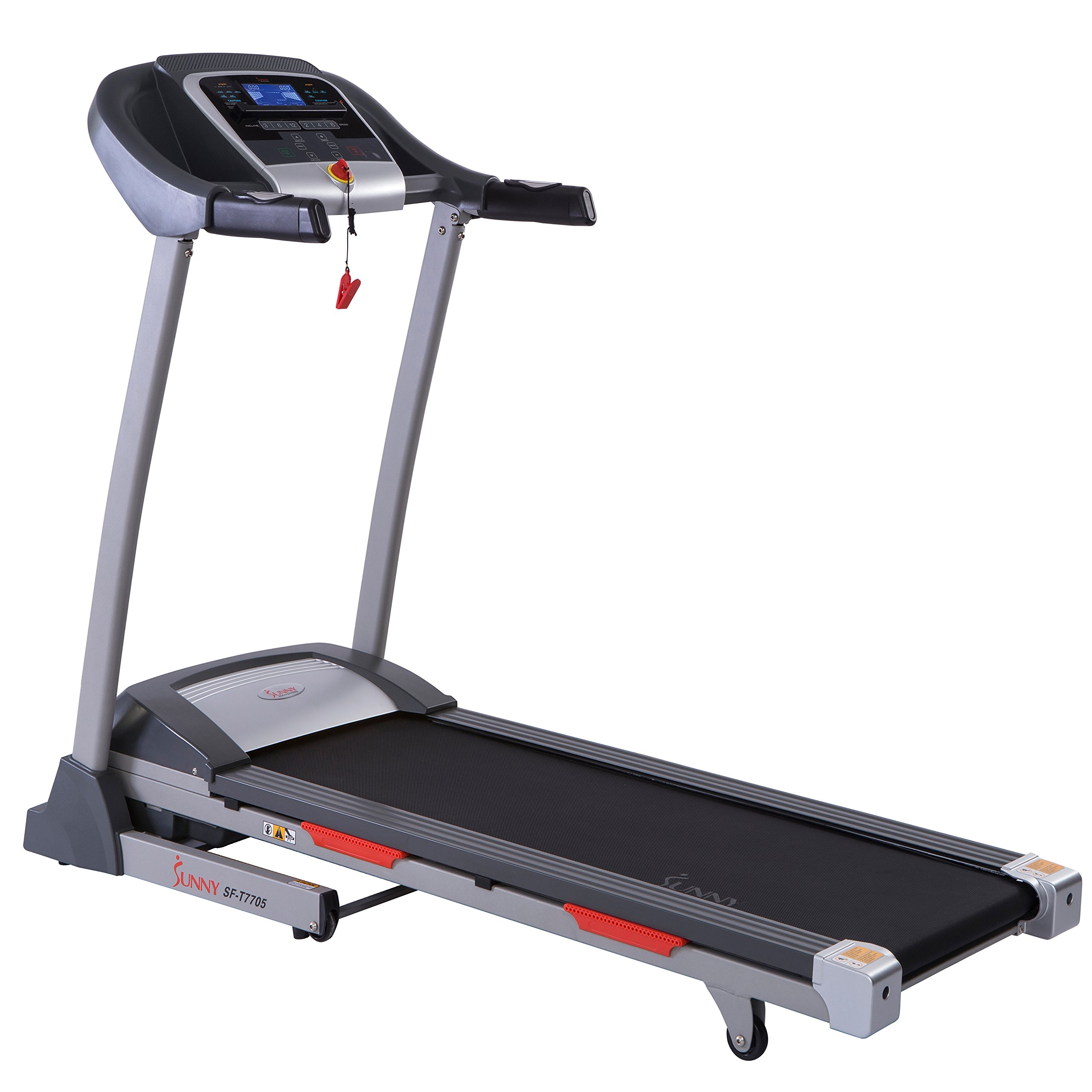 Sunny Health & Fitness Portable Treadmill with Auto Incline, LCD, Smart APP and Shock Absorber - SF-T7705 by Sunny Health & Fitness