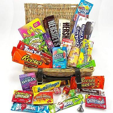Gran cesta con American Candy | Caja de caramelos y Chucherias ...