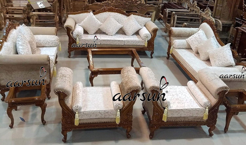 Aarsun Living Room Set 3+2+ Deewan+ 2 Open Back Settee + ...