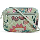 Vera Bradley Women's Signature Cotton Little Crossbody Purse with RFID Protection