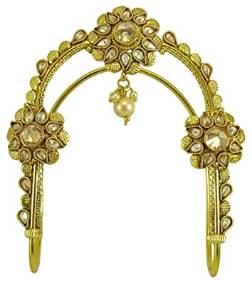 Gold Tone Kundan Stone Traditional Women Wedding Upper Arm Bracelet Jewellery Bridal & Wedding Party Jewelry