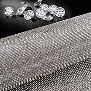 Bling Crystal Rhinestone DIY Sticker for Car Auto Vehicle Decoration, for Arts & Crafts, DIY Event Decoration, Gift Decoration, Phone Decoration, car Decoration, 24x40cm(9.45x15.75inch)-Silver White