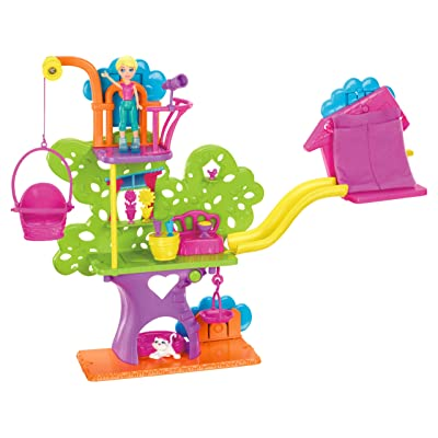 Polly Pocket Wall Party Tree House Playset: Toys & Games