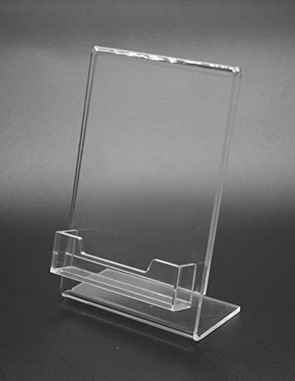 Amazon fixturedisplays 4x 6lucite clear acrylic slanted sign fixturedisplays 4x 6quotlucite clear acrylic slanted sign holder with business card gift card colourmoves