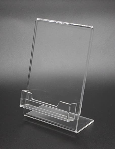 Amazon fixture displays 4x 6lucite clear acrylic slanted sign fixture displays 4x 6quotlucite clear acrylic slanted sign holder with business card gift colourmoves Gallery