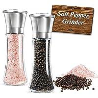 Molinillo de Sal y Pimienta ,Molino manual de Sal y moledor Pimienta y especias con precisión de grosor ajustable acero…